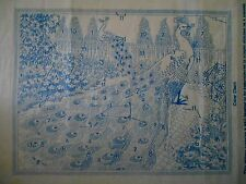 Vintage Alice Brooks Peacock Transfer Pattern #7142 Embroider for Wall Hanging