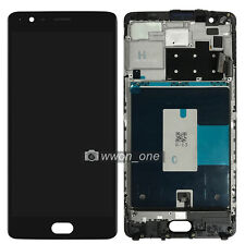 Black OnePlus 3 A3000 A3003 LCD Display Touch Screen Digitizer Assembly Frame