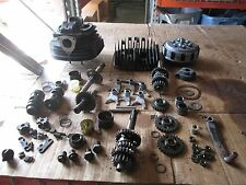 1978 Suzuki PE250 Clutch Cylinder & Head Layshaft Kickstarter Oil Cap Parts Lot