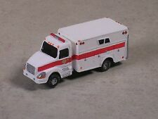 N Scale 2012 White with Red Stripe Volve Fire Heavy Rescue Truck.
