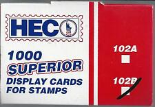 FREE SHIPPING to U.S. Box 1000 HECO or Uni-Safe 102B Cards Black 4-1/4 x 2-3/4