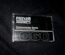 VINTAGE MAXELL C60 COMMUNICATOR SERIES BLANK TAPE P/I CASSETTE NEW IN PACKAGE