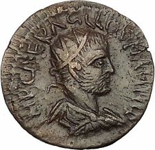 VALERIAN I Senior 253AD Antioch in Pisidia Legionary Eagle Roman Coin i53245