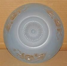 Vtg Art Deco Blue Frosted Glass Ceiling Light Fixture Shade Replacement Shade #1
