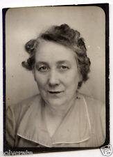 Portrait identité photomaton femme - photo ancienne an. 1950