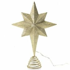 Magnavox Christmas Tree Top Gold Star Multi-Color LED Projected Topper