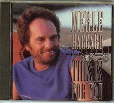 Merle Haggard -  This Is For You -  CD - NEW - FAST FREE SHIPPING !!!!