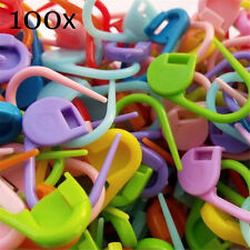 100Pcs Knitting Weave Crochet Knitting Needles Clip Markers Hooks Sewing Plastic