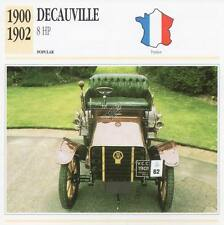 1900-1902 DECAUVILLE 8 HP Classic Car Photograph / Information Maxi Card