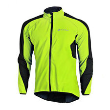 Bicycle Fleece Jacket Winter Mens Bike Riding Jackets Cycle Clothing Green XL
