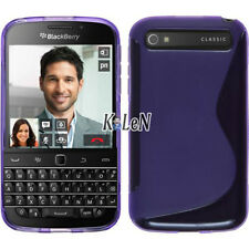 TPU Silicone Case For BlackBerry Classic Q20 -Purple Gel S Line Cover Skin Pouch