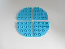 Lego Duplo Rounded Brick Plates 4 x 4 Blue Brown White   Lot Set PICK COLOR