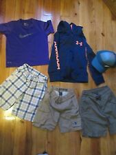 Boys 6-7 Mixed clothing lot Under Armour Nike shorts hoodie shirt