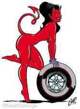 Wheel Girl STICKER Decal Poster Artist Coop CP15 Roth Like
