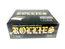 20 Rollies Rolling Papers on a Roll Refills 1 1/4 Slim Hemp Cigarette Paper Roll
