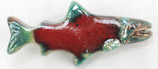 Raku Sockeye Salmon Drawer Cabinet Pull Fish ing Ceramic Hardware Handle Knob