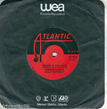 ROBERTA FLACK & DONNY HATHAWAY Where Is The Love / Baby I Love You 45