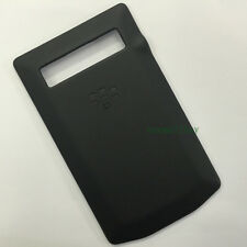Black Leather Battery Back Cover Housing For BlackBerry Porsche Design P'9981