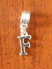 Pendentif argentée lettre F