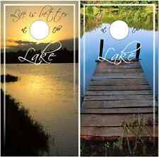 Lake Life Cornhole Wrap Bag Toss Skin Decal Sticker Wraps
