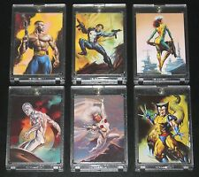 1996 Marvel Masterpieces DOUBLE IMPACT Set of 6 Cards NM/M RARE!! Vallejo, Bell