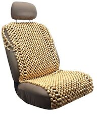 Wooden Full Bead Seat Cushion Cover Natural Wood Beaded Massage Car Office HS3