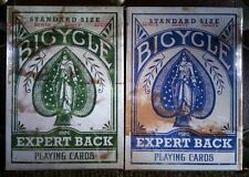 Lot 2 Deck Set BLUE & GREEN Bicycle Distressed Expert Back Playing Cards New
