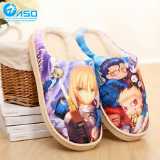 Anime Fate/stay night Saber Winter Warm Soft Plush Antiskid Indoor Home Slippers