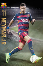 Neymar Jr. GAME NIGHT 2015/16 FC Barcelona Football Soccer Action POSTER