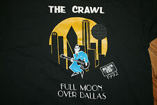 "Vintage The Crawl ""Full Moon Over Dallas"" 1992 Black Top Screen Stars T-Shirt L"