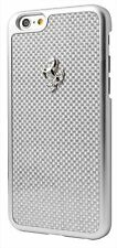Ferrari GT SILVER CARBON FIBER HARD CASE S/ EMBLEM  APPLE IPHONE 6 4.7 US SELLER