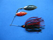 3/8 oz Spinner Bait   BLACK/RED   bass musky pike jig tackle lure lot T38Wpr9155