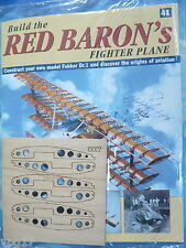 BUILD THE RED BARON'S FIGHTER PLANE FOKKER DR1  HACHETTE  ISSUE 41  NEW SEALED