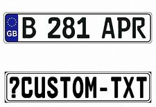 New Great Britain/United Kingdom/UK EEC European Front License Plate(Custom)