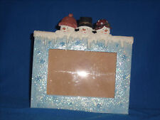 **CLEARANCE** Cobble Creek 3D Snowmen Holiday Christmas Picture Frame (F18-9)