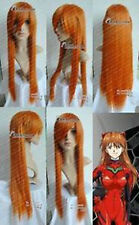EVANGELION ASUKA ORANGE straight cosplay wig long 80CM