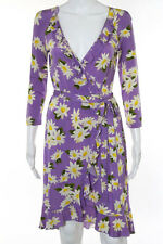 Moschino Cheap & Chic Multi-Colored Floral Print V-Neck Built In Belt Ruffled Tr