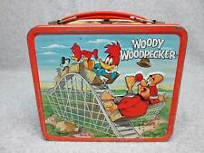 1972 WOODY WOODPECKER Tin Litho LUNCHBOX Animated Saturday Morning Cartoon C#8