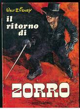 WALT DISNEY DEAKIN IL RITORNO DI ZORRO MONDADORI 1968 ILLUSTRATO DA JOHN CHALLEN