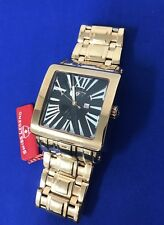 NEW Swiss Legend Men's Watch Rose Gold Black Square Roman Numeral Dial (5I)