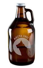 Akita Inu Dog Breed Pride Hand Etched 64oz Beer Wine Growler