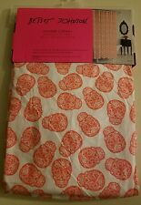 "NEW Betsey Johnson Candy Sugar Skull Fabric Shower Curtain 72""x72"""