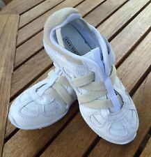 NEW Vintage White/Bleach  Z Straps Leather/Nylon Sneakers Diesel Size 11 1/2