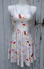 Brand New Kawaii Ice Cream & Lolly Skater Dress - 8 10 12 - Kawaii Geek Chic