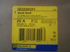 QO220GFI 20 AMP SQUARE D 2 POLE BREAKER