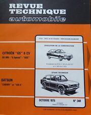 NEUF Revue technique DATSUN CHERRY + 120A RTA 349 1975 CITROEN GS 1015 SPECIAL X