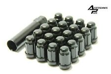 23 Pc JEEP WRANGLER BLACK SPLINE LUG NUTS 1/2-20 With KEY Part # AP-5650BK