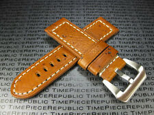 24mm NEW MOON COW LEATHER STRAP Watch Band PAM Gold Brown 24