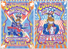 GOV'T MULE Uncut Atlanta & New York Original 1999 Concert Posters Signed