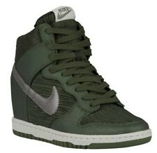 $125 Women's Nike Dunk Sky Hi CARBON GREEN WEDGE (528899-302) Sz 8